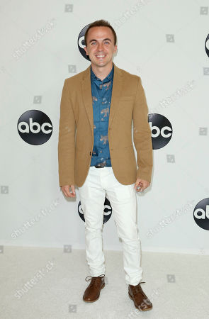 Frankie Muniz arrives at the Disney/ABC 2018 Television Critics Association Summer Press Tour at the Beverly Hilton, in Beverly Hills, Calif