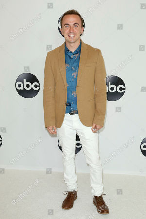 Stock Photo of Frankie Muniz arrives at the Disney/ABC 2018 Television Critics Association Summer Press Tour at the Beverly Hilton, in Beverly Hills, Calif