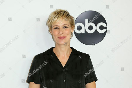 Liza Weil arrives at the Disney/ABC 2018 Television Critics Association Summer Press Tour at the Beverly Hilton, in Beverly Hills, Calif