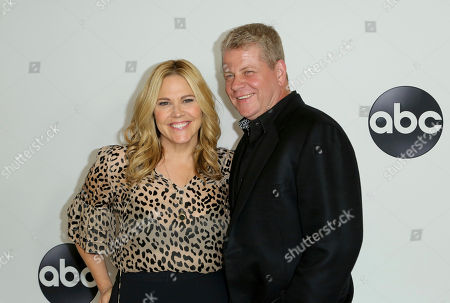Mary McCormack, Michael Cudlitz. Mary McCormack, left, and Michael Cudlitz arrive at the Disney/ABC 2018 Television Critics Association Summer Press Tour at the Beverly Hilton, in Beverly Hills, Calif