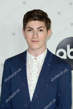 Mason Cook arrives at the Disney/ABC 2018 Television Critics Association Summer Press Tour at the Beverly Hilton, in Beverly Hills, Calif
