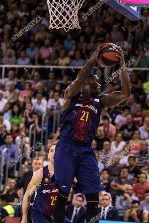 Editorial picture of FC Barcelona Bàsquet v Kirolbet Baskonia, Basketball, Liga Endesa Play Off Game 3, Palau Blaugrana, Barcelona, Spain - 09 Aug 2018