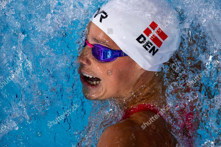 Pernille Blume of Denmark competes in the women's 4x100m Medley Relay Heats at the Glasgow 2018 European Swimming Championships, Glasgow, Britain, 9 August 2018.