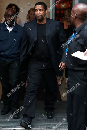 Denzel Washington at Global Radio for Chris Moyles Breakfast Show, Radio X