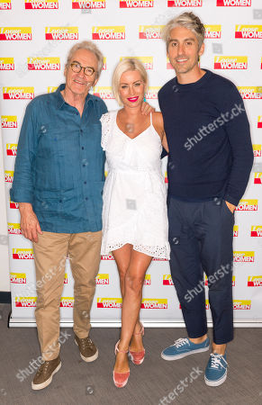 George Lamb and Larry Lamb with Denise Van Outen