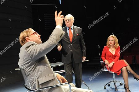 'Enron' - Samuel West (Jeffrey Skilling), Tim Pigott-Smith (Kan Lay) and Amanda Drew (Claudia Roe)