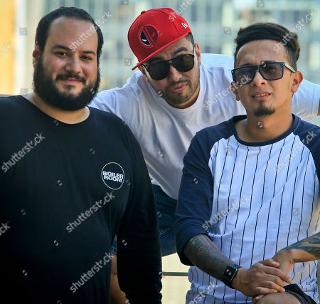 "Sebastian Corcione, from left, Andres Cardenas and Miguel Pinzon, members of the Colombian DJ collective El Freaky, pose during a visit to New York. On Friday, the group will release""NMF,"" the first single of its first album under a major label, Universal/Aftercluv. Their album ""Diabloh,"" which includes collaborations with Juanes, De La Ghetto, Shaggy, Jowell & Randy, among other artists, will be released in October"