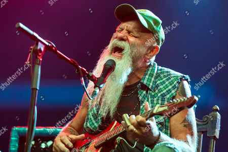 American blues musician Seasick Steve performs live on the second day of the 26th Sziget (Island) Festival on Shipyard Island, northern Budapest, Hungary, 09 August 2018. The Sziget Festival is one of the biggest cultural events of Europe offering art exhibitions, theatrical and circus performances and above all music concerts.
