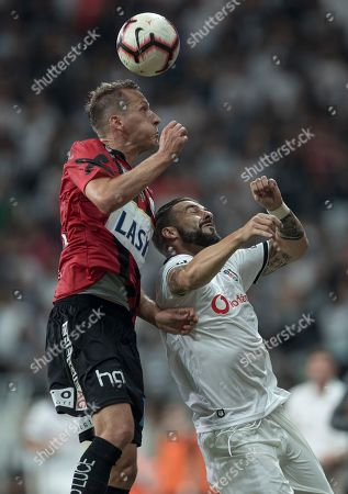 Editorial picture of Besiktas Istanbul and LASK Linz, Turkey - 09 Aug 2018