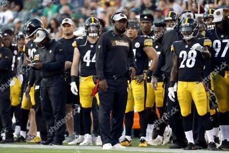 Pittsburgh Steelers head coach Mike Tomlin walks the sidelines during the  first half of a preseason ... 9d8f18844