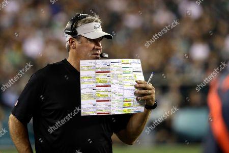 Philadelphia Eagles head coach Doug Pederson in action during the second  half of a preseason NFL ... 86003e911