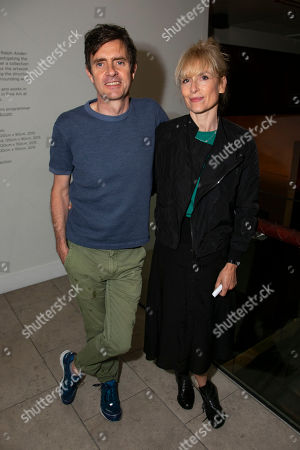 Stock Image of Paul Higgins (Tom Hoffnung) and Amelia Bullmore