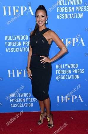Eva LaRue arrives at the Hollywood Foreign Press Association Grants Banquet at The Beverly Hilton hotel, in Beverly Hills, Calif