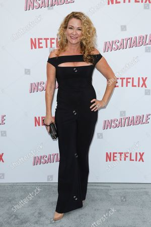 """Stock Image of Sarah Colonna arrives at the LA Premiere of """"Insatiable"""" at the Arclight Hollywood, in Los Angeles"""
