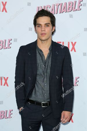 """James Lastovic arrives at the LA Premiere of """"Insatiable"""" at the Arclight Hollywood, in Los Angeles"""
