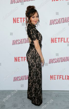 "Anna Maria Perez de Tagle arrives at the LA Premiere of ""Insatiable"" at the Arclight Hollywood, in Los Angeles"