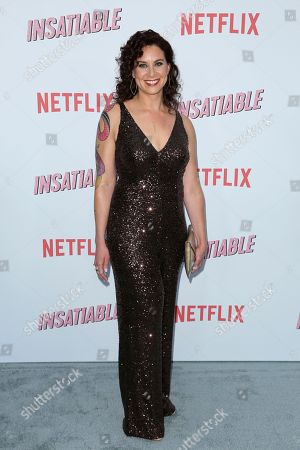 "Lauren Gussis arrives at the LA Premiere of ""Insatiable"" at the Arclight Hollywood, in Los Angeles"