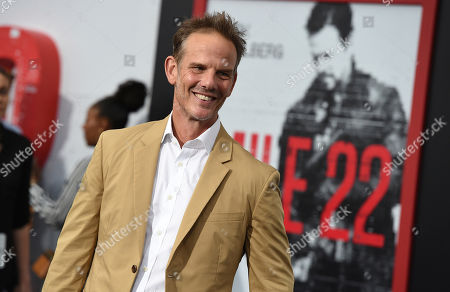 "Peter Berg arrives at the Los Angeles premiere of ""Mile 22"", in Los Angeles"