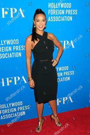 US actress Eva LaRue arrives for the Hollywood Foreign Press Association Grants Banquet at the Beverly Hilton Hotel in Beverly Hills, California, USA, 09 August 2018.