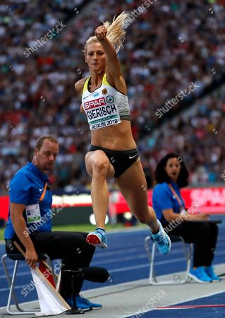 Kristin Gierisch of Germany competes in the Women's Triple Jump final at the Athletics 2018 European Championships, Berlin, Germany, 10 August 2018.