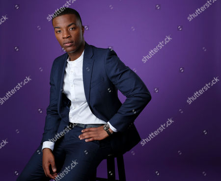 """Daniel Ezra, a cast member in the C W Stoneking series """"All American,"""" poses for a portrait during the 2018 Television Critics Association Summer Press Tour, in Beverly Hills, Calif"""