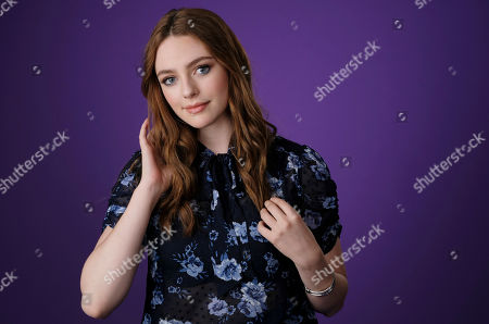 """Danielle Russell, a cast member in the CW series """"Legacies,"""" poses for a portrait during the 2018 Television Critics Association Summer Press Tour, in Beverly Hills, Calif"""