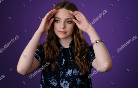 """Stock Picture of Danielle Russell, a cast member in the C W Stoneking series """"Legacies,"""" poses for a portrait during the 2018 Television Critics Association Summer Press Tour, in Beverly Hills, Calif"""