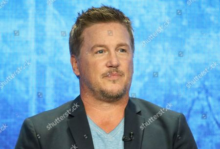 "Lochlyn Munro participates in the ""Riverdale"" panel during the CW Television Critics Association Summer Press Tour at The Beverly Hilton hotel, in Beverly Hills, Calif"
