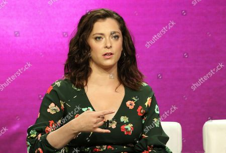 "Stock Image of Rachel Bloom participates in the ""Crazy Ex-Girlfriend"" panel during the C W Stoneking Television Critics Association Summer Press Tour at The Beverly Hilton hotel, in Beverly Hills, Calif"