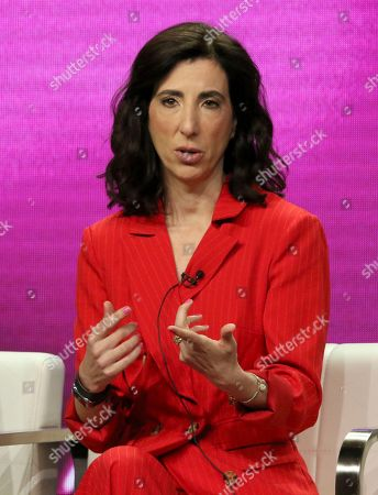 "Aline Brosh McKenna participates in the ""Crazy Ex-Girlfriend"" panel during the C W Stoneking Television Critics Association Summer Press Tour at The Beverly Hilton hotel, in Beverly Hills, Calif"