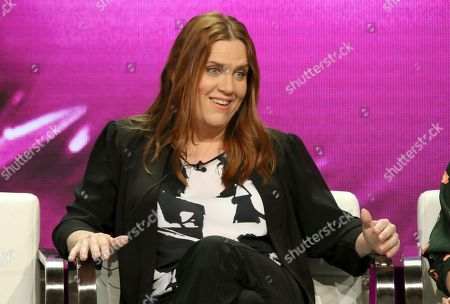 "Donna Lynne Champlin participates in the ""Crazy Ex-Girlfriend"" panel during the C W Stoneking Television Critics Association Summer Press Tour at The Beverly Hilton hotel, in Beverly Hills, Calif"