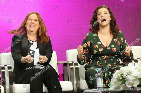 "Donna Lynne Champlin, Rachel Bloom. Donna Lynne Champlin, left, and Rachel Bloom participate in the ""Crazy Ex-Girlfriend"" panel during the C W Stoneking Television Critics Association Summer Press Tour at The Beverly Hilton hotel, in Beverly Hills, Calif"