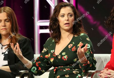 "Rachel Bloom participates in the ""Crazy Ex-Girlfriend"" panel during the C W Stoneking Television Critics Association Summer Press Tour at The Beverly Hilton hotel, in Beverly Hills, Calif"