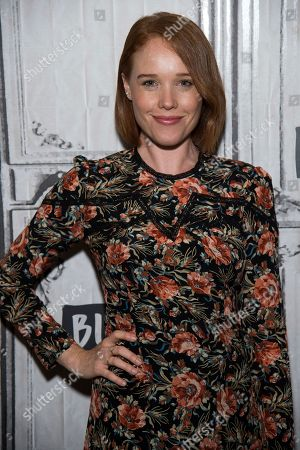 """Stock Image of Jessica Keenan Wynn participates in the BUILD Speaker Series to discuss """"Mamma Mia! Here We Go Again"""" at AOL Studios, in New York"""