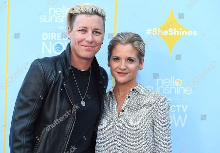 Abby Wambach, Glennon Doyle. Abby Wambach, left, and Glennon Doyle arrive at the Hello Sunshine Video on Demand channel launch at NeueHouse Hollywood on in Los Angeles