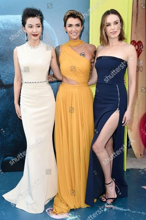 "Li Bingbing, Ruby Rose, Jessica McNamee. Li Bingbing, from left, Ruby Rose and Jessica McNamee attend the LA Premiere of ""The Meg"" at TCL Chinese Theatre, in Los Angeles"