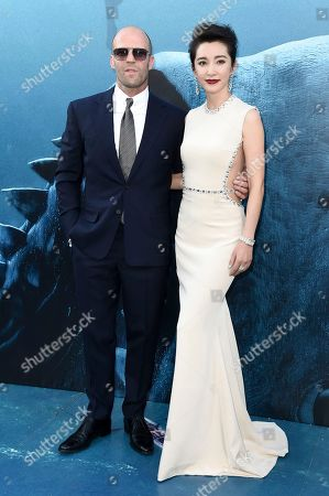 "Stock Picture of Jason Statham, Li Bingbing. Jason Statham, left, and Li Bingbing attend the LA Premiere of ""The Meg"" at TCL Chinese Theatre, in Los Angeles"