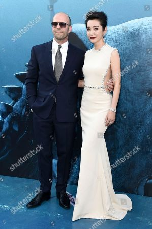 "Jason Statham, Li Bingbing. Jason Statham, left, and Li Bingbing attend the LA Premiere of ""The Meg"" at TCL Chinese Theatre, in Los Angeles"