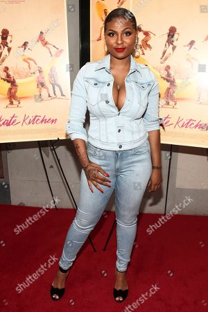 """Tashiana Washington attends the premiere of """"Skate Kitchen"""" at the IFC Center, in New York"""