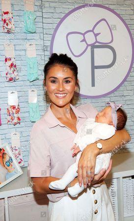 Stock Photo of Nikki Whelan and 4 week old Belle Walsh