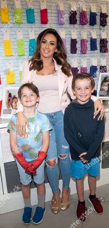 Michelle Ragazzoli Stone with sons Hugo Stone (age 6) and Max Stone (age 8)