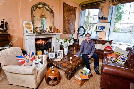 Angus Deayton 'My Haven' in the Living Room of his London Home