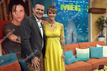 Alan Tacher and Ruby Rose