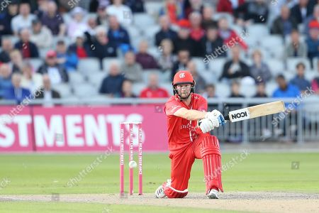 Lancashires Karl Brown during the Vitality T20 Blast North Group match between Lancashire Lightning and Birmingham Bears at the Emirates, Old Trafford, Manchester
