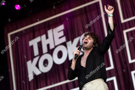 Luke Pritchard, leader of the British indie rock band The Kooks performs during their concert on the third day of the 26th Sziget (Island) Festival on Shipyard Island, Northern Budapest, Hungary, 10 August 2018. The Sziget Festival is one of the biggest cultural events of Europe offering art exhibitions, theatrical and circus performances and above all music concerts.