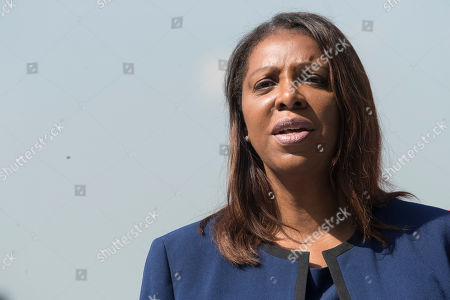 New York City Public Advocate Letitia James speaks during a news conference, in New York. James will face off against Leecia Eve, an attorney who was an aide to Hillary Clinton and Cuomo, Zephyr Teachout, a professor at Fordham Law School, and congressman Sean Patrick Maloney in the Democratic primary race for attorney general