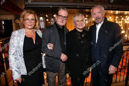 Lena Runge (Editor), Bjorn Runge (Director), Glenn Close (Joan Castleman) and Jonathan Pryce (Professor Joe Castleman)
