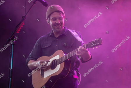 Stock Image of Robin Pecknold of Fleet Foxes performing at the Foow Festival in Helsinki,Finland