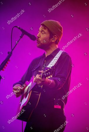 Stock Photo of Robin Pecknold of Fleet Foxes performing at the Foow Festival in Helsinki,Finland