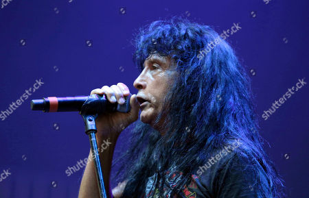 Joey Belladonna with Anthrax performs as the opener for Slayer at Cellairis Amphitheatre at Lakewood, in Atlanta